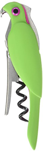 TrueZoo Corkatoo Double Hinged Corkscrews in Assorted Colors by (Parrot Corkscrew)
