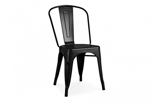 Poly and Bark Trattoria Side Chair in Black by POLY & BARK