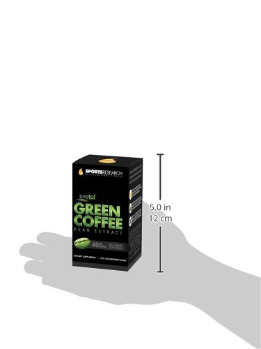 SVETOL Green Coffee Bean Extract, 90 Liquid Softgels with 400mg of Clinically-Proven Svetol Per Cap by Sports Research (Image #13)
