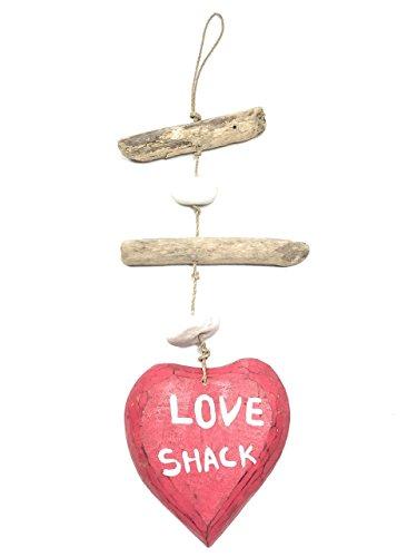 (Tikimaster Love Shack Driftwood Garland w/White Stone 12