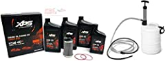 SeaDoo 2016+ RXT-X RXP-X GTX 300 Oil Change Kit with 4L Oil Extractor Pump  Contains:  3.5 Qt - SeaDoo XPS 5W40 Synthetic Blend Oil  1 - SeaDoo 420956744 Oil Filter  2 - Oil Filter Cap O-Ring 420850500 / 420230921 1 - PWCParts 4L Oil Extracto...