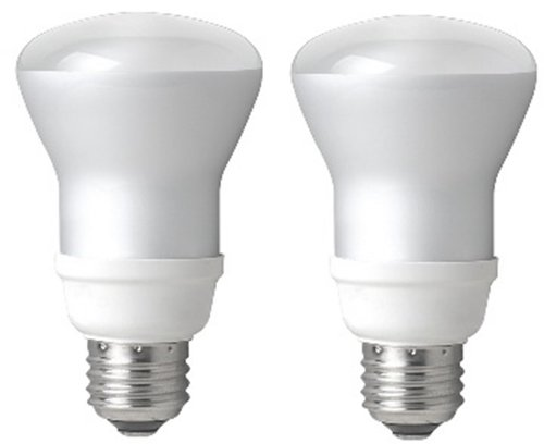TCP 50W Equivalent, CFL R20 Flood Light Bulbs, Non-dimmab...