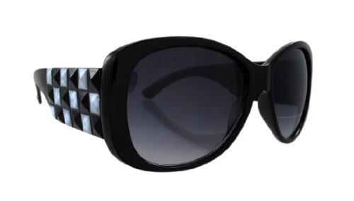 Ladies Checkerboard Pyramid Studded - Checkerboard Sunglasses