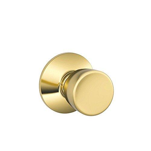Schlage F10BEL605 Bell Passage Knob, Bright Brass ()