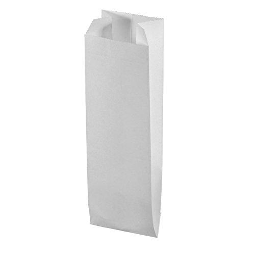 Sacchetto a pieghe in carta–7x 24cm, Bustina 20pces–Bianco - Bustina 20pces-Bianco - MegaCrea