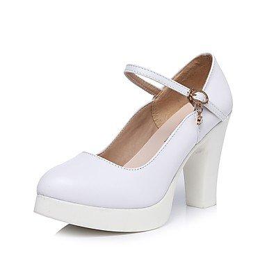 RTRY La Mujer Tacones Zapatos Formales Primavera Otoño Microfibra Sintético Pu Oficina &Amp; Carrera Vestido Blanco Plataforma Hebilla De Strass 3A-3 3/4En Blanco Us9 / Ue40 / Uk7 / Cn41 US8 / EU39 / UK6 / CN39