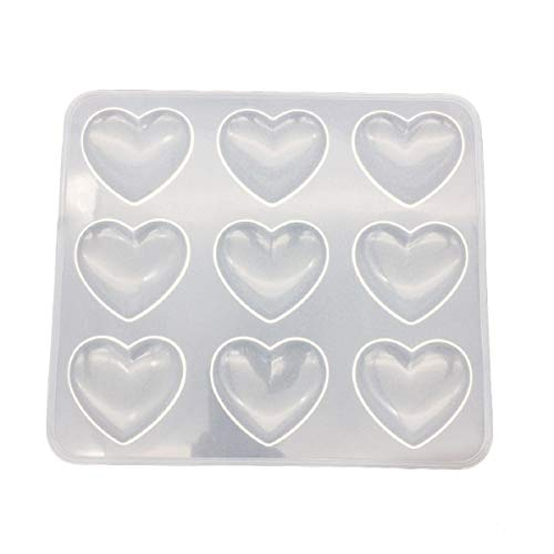 Yalulu UV Resin Jewelry Silicone Mold Heart Resin Charms Pendant Molds for DIY Decorate Making Jewelry