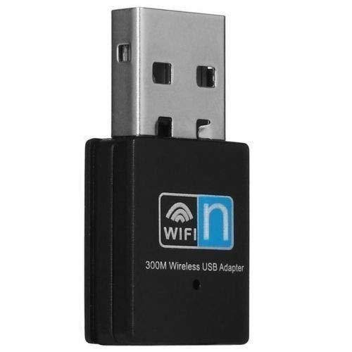 d ❤ Mini 300Mbps USB Wireless WiFi Adapter 802.11n/g/b LAN Internet Network Adapter (Black, Free) ()