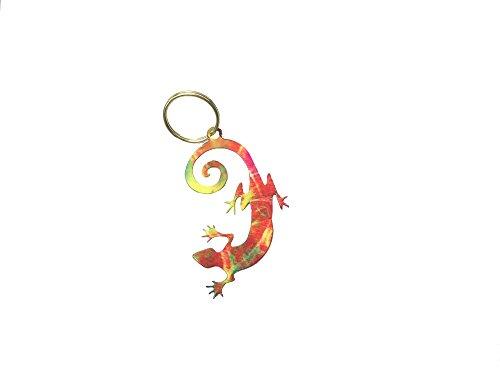 Arizona Southwestern Gecko - Lizard Key Chain - Key Ring - Southwest Gift Idea - Key Holder - Metal - Indian Design - Native American Design (1 per order)