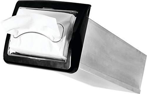 San Jamar H2003CLBK Venue In-Counter Napkin Dispenser, Interfold, Clear/Black by San Jamar