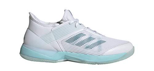 adidas Women's Adizero Ubersonic 3, Blue Spirit White, 7.5 M US