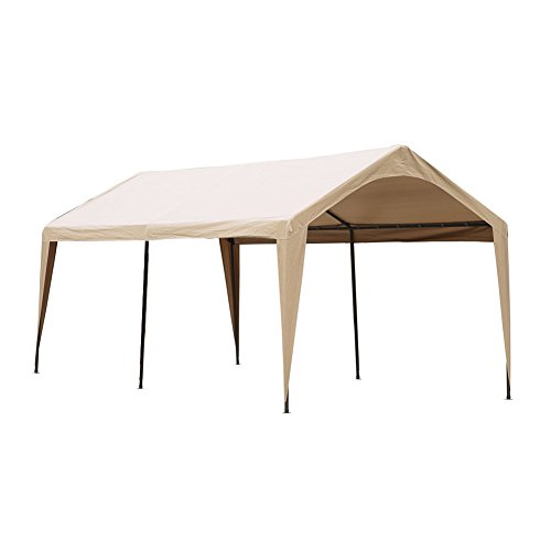 Abba Patio Cover Canopy Replacement for 10 x 20-Feet Heavy Duty Carport, Beige (FRAME not Include) by Abba Patio