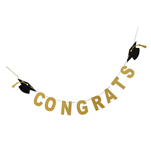 Graduation Party Decoration Graduation Cap Banner Congrats Sign Graduation Party Supplies]()