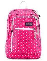 Jansport Insider Fluorescent Pink Dots Backpack