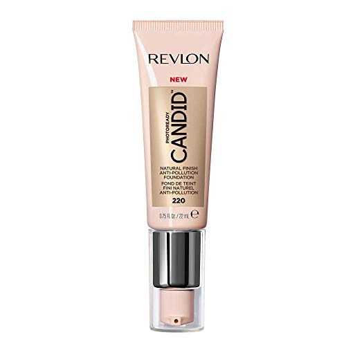 Revlon PhotoReady Candid Natural Finish Foundation, with Anti-Pollution, Antioxidant, Anti-Blue Light Ingredients, without Parabens, Pthalates and Fragrances; Sand Beige.75 Fluid Oz