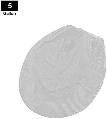 lennonsi Farbsiebbeutel, Feingitterfilter Beutel Eimer Siebbeutel mit elastischer Öffnung Hydroponischer Farbfilterbeutel für die Gartenarbeit, 1/2/5 Gallonen