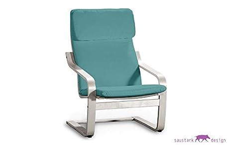 Sillón BOSTON turquesa para IKEA POÄNG sillón Alme: Amazon ...