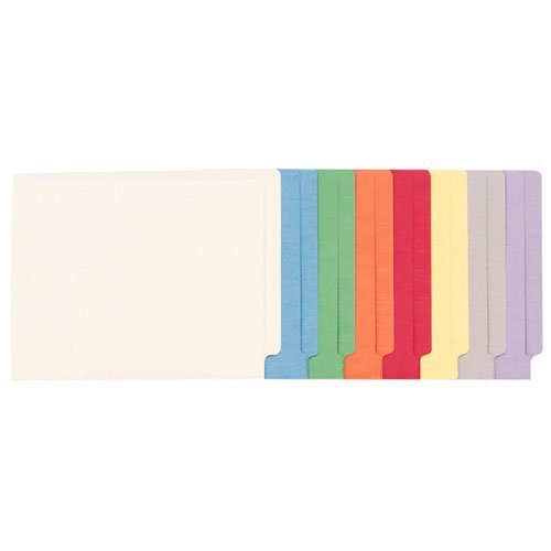 Smead 25010 - Colored File Folders, Straight Cut, Reinforced End Tab, Letter, Blue, 100/Box by Smead