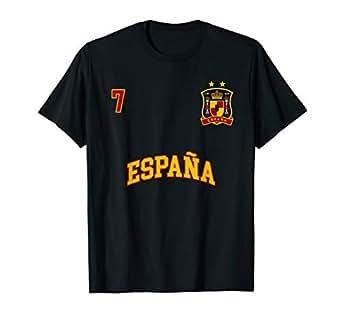 Amazon.com: España Camisa Número 7 equipo de fútbol bandera ...