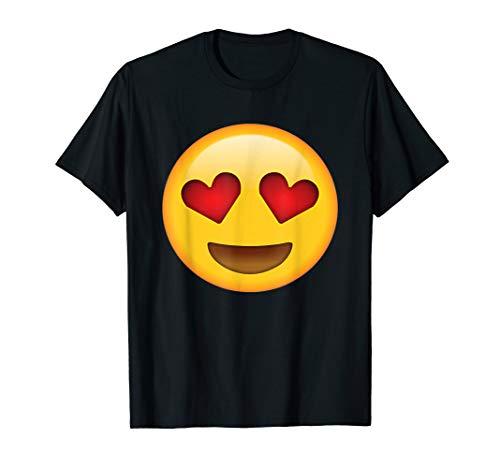 Emoji T-shirt Heart Eyes Emoji Smile Love Kiss Hug Valentine