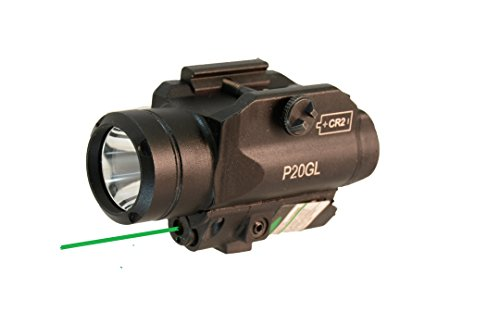 HiLight Tactical LED Flashlight and Green Laser Combo for Pistols (W/Green Laser) -