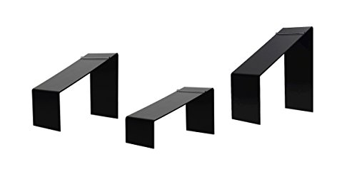 Acrylic Shoe Risers, Set of 3 (Black) Premium Shoe Display