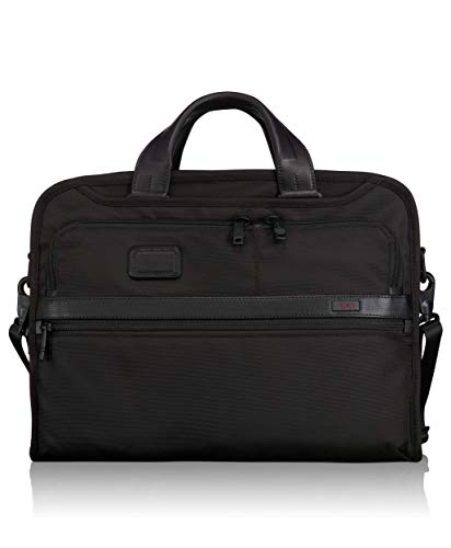 TUMI - Alpha 2 Organizer Portfolio Bag Brief - Briefcase for Men and Women - Black