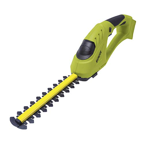 Sun Joe 24V-SSEG-CT 24-Volt Cordless Handheld Shear Shrubber + Trimmer/Edger, Tool Only