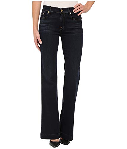 7 For All Mankind Women's Ginger Jean with Press Crease, Dark Madrid Night, 25