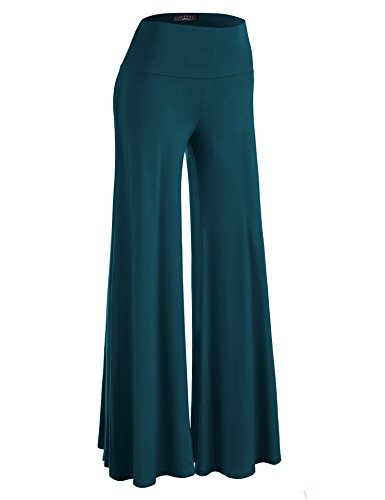 - Made By Johnny WB750 Womens Chic Palazzo Lounge Pants XL Teal