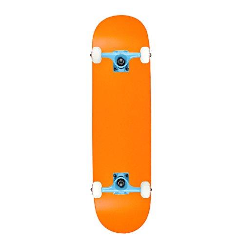 skateboard complete blank neon orange