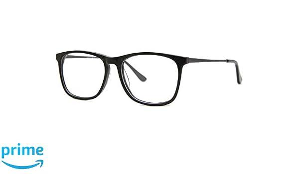 3366822ff2c0 SmartBuy Collection Finn Unisex Prescription Eyeglass Frames - Full Rim  Square Designer Glasses Frame - Finn Black at Amazon Men's Clothing store: