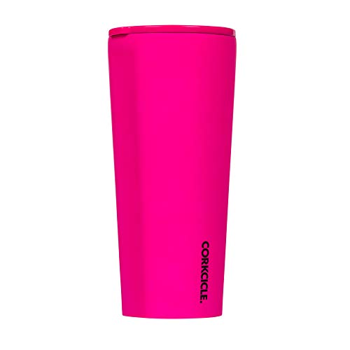 Corkcicle Tumbler - Neon Lights Collection - Triple Insulated Stainless Steel Travel Mug, Neon Pink, 24oz