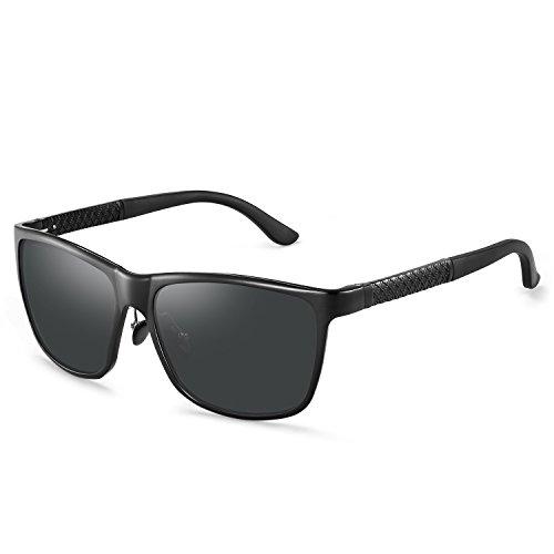 Unisex Polarized Sunglasses,Metal Frame Mens Womens Sunglasses For Wide Head