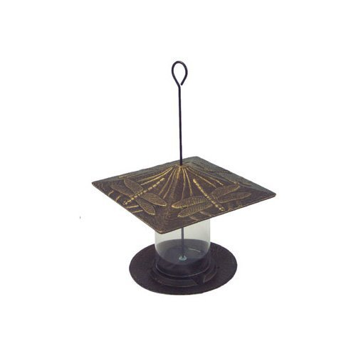 Whitehall Products Dragonfly Tube Feeder, 6-Inch, French Bronze For Sale