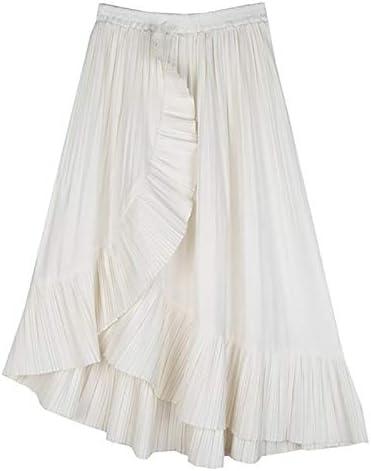 GDNTCJKY Faldas para Mujer Falda Casual con Volantes Falda De ...