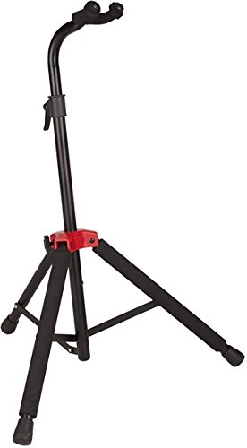 Deluxe Acoustic Bass Guitar (Fender Deluxe Hanging Guitar Stand, Black/Red)