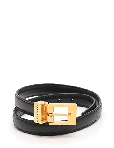 [シャネル]CHANEL ベルト レザー 黒 ブラック ゴールド 全長73cm ウエストサイズ54.5~58.5cm レディース 中古 B07F2X77MF  -