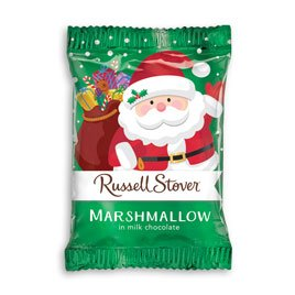 Russell Stover Milk Chocolate Marshmallow Santa, 1 Ounce, 36 Count