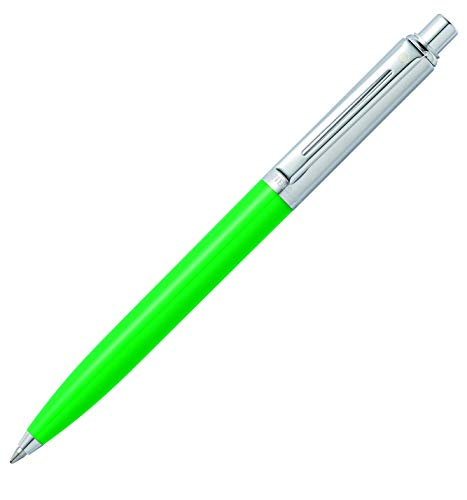 Sheaffer Sentinel Bright Green Ballpoint Pen with Brushed Chrome Cap