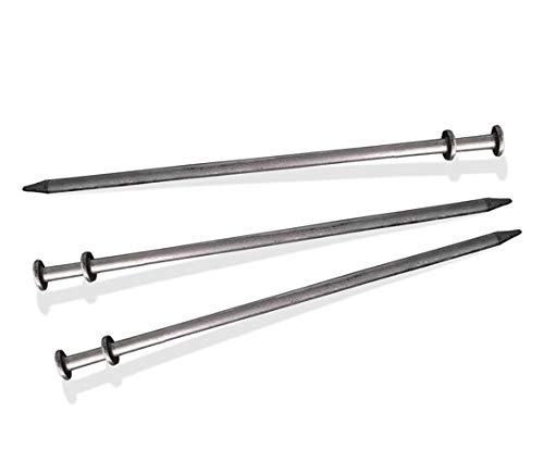 - TentandTable 30-Inch Length, 3/4-Inch Diameter Steel Double Head Stake for Tents, Gardens, and Inflatables (4-Pack)
