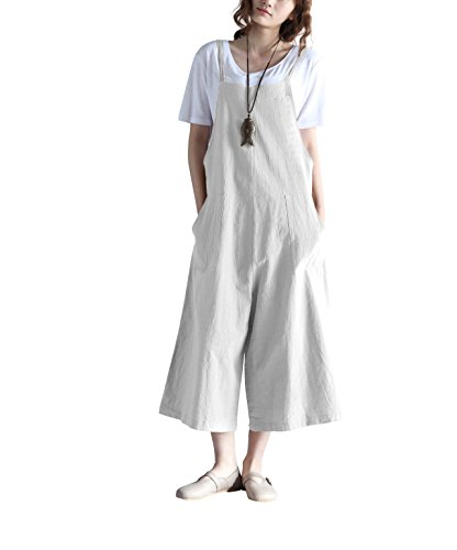 Hulaha Womens Linen Loose Fit Overalls Jumpers