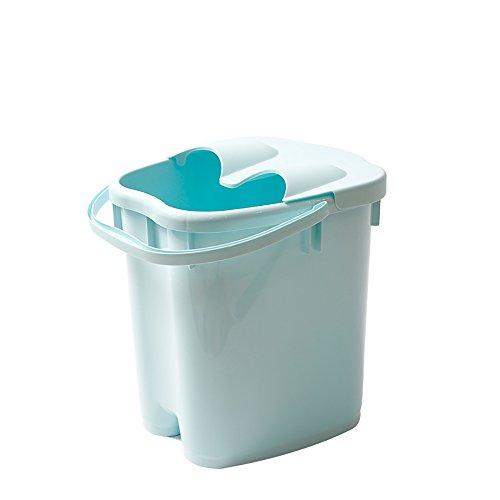AI Foot Bath Barrel Thicker Plastic Massage Foot Bath Heightening Household Footbath 20L Large Capacity High Water Level 22 * 30 * 40cm (Color : Blue)