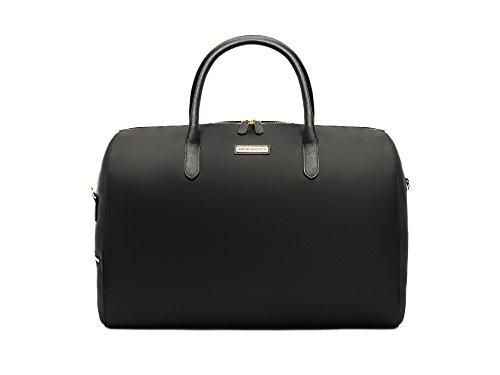 Archer Brighton Ella Canvas Weekender Travel Bag (Black)