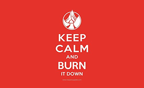 Keep Calm - And Burn It Down - Red Mana Mat Trading Card Playmat for Magic the Gathering, Pokemon, Yu-Gi-Oh!, and Force of Will Cards - By MAX PRO