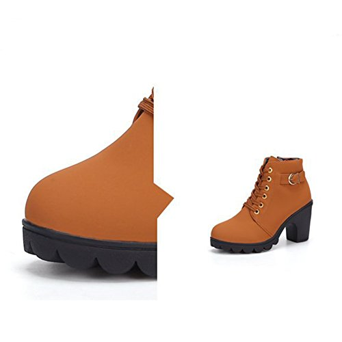 de Cordones para Caqui Boots Mujer Botas Martin P6ITqXO