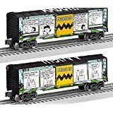 - Lionel 684677 Peanuts Comics Art Meadow Boxcar, O Gauge, black, Teal, Yellow, White, Green