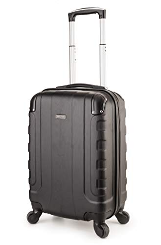 TravelCross Chicago 20'' Carry On Lightweight Hardshell Spinner Luggage - Black