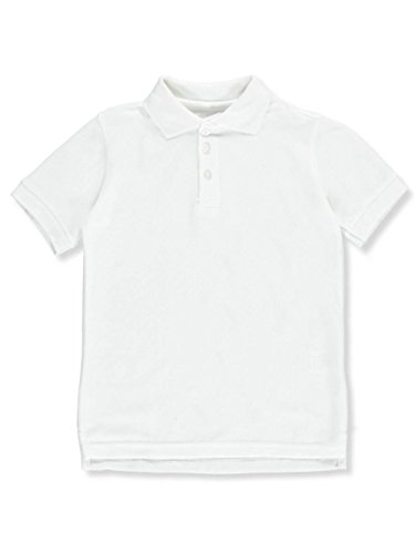 Classic School Uniform Little Boys' Toddler S/S Pique Polo Shirt - White, 2t