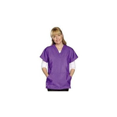 Top Performance V-Neck Grooming Smocks Comfortable Pull-Over Nylon Tops for Professional Pet Groomers Extra-Large, Plum by Top Performance